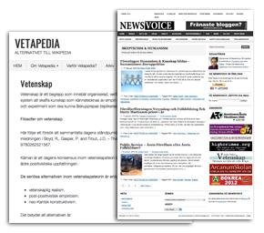 Vetapedia och NewsVoice