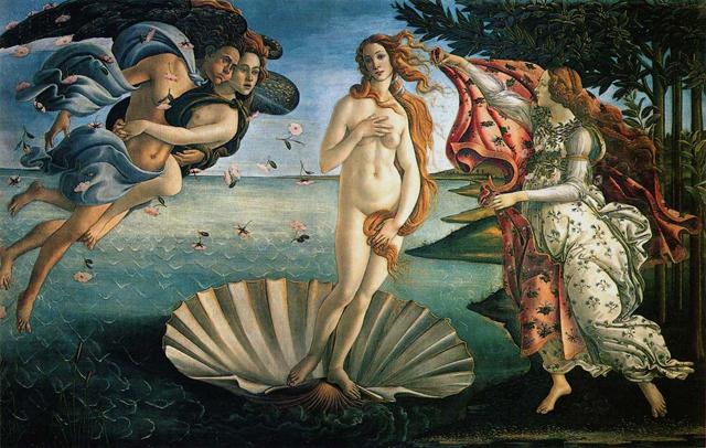 Venus födelse av Sandro Botticellis