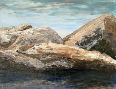 """""""Bergsmodern"""", akryl av dr. Nils-Olof Jacobson"""