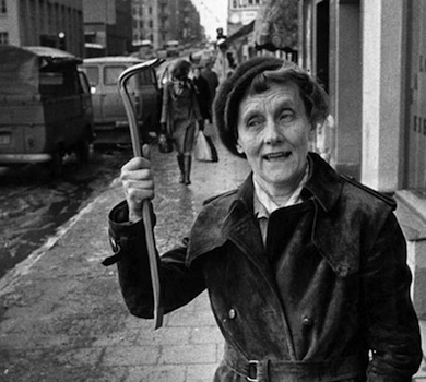 Foto:  Per Kagrell. Astrid Lindgren protesterar