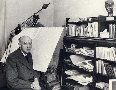 Baltzar von Platen på sitt kontor 1960 Wikicommons