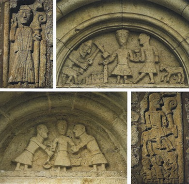 Stenrelieffer från Forshems  kyrka (1100-tal). Foto: Lennart Utgren