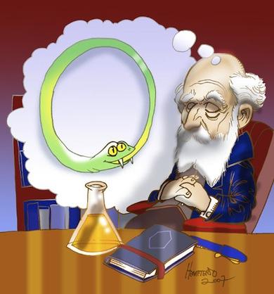 Friedrich August Kekulé von Stradonitz upptäckte en kemisk struktur genom dröm.