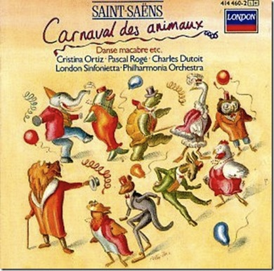 "Camille Saint-Saens kända komposition ""Djurens Karneval"""
