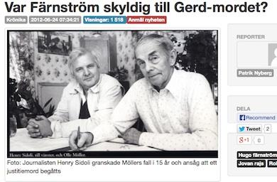 Journalisten Henry Sidoli ansåg att ett justitiemord begåtts mot Olle Möller.