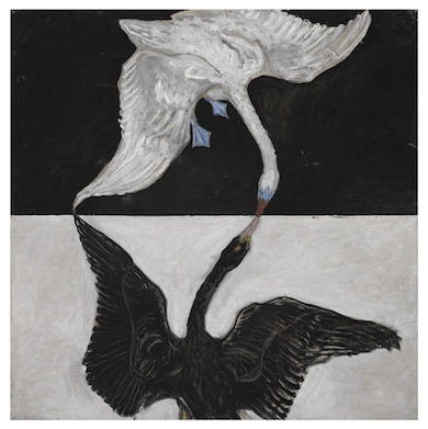 Hilma af Klint, The Swan, No. 1, Group IX/SUW, The SUW/UW Series, 1915 © Stiftelsen Hilma af Klints Verk. Photo: Albin Dahlström/ Moderna Museet.