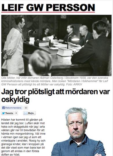 Leif GW Persson Expressen 23 sept 2012