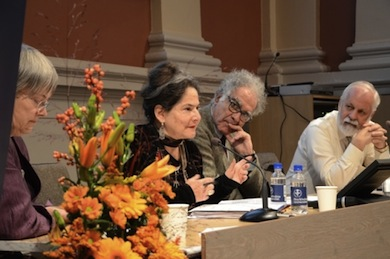 Marja-Liisa Keinänen, Marjorie Mandelstam Balzer, Carlo Ginzburg, Jan Bremmer (Foto: Kajsa Salmi)
