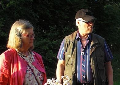 Kersti Wistrand, Börje Peratt under Medevivecka 2013 (Foto Ritva Peratt)