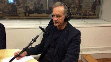 Maciej Zaremba i P1-morgon om sin reportagebok- Patientens pris. Foto: Helena Ulander/Sveriges Radio.