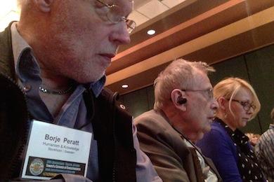 Börje Peratt HK och Stanley Krippner under TSC konferens 2014