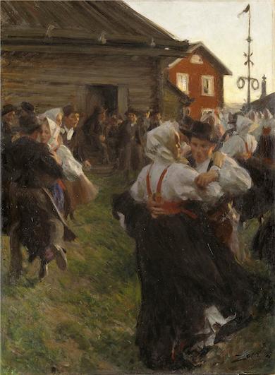 Midsommardans av Anders Zorn 1897 (Wikimedia)