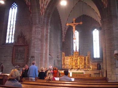 Vadstena klosterkyrka - med Birgittas relikskrin Foto: Börje Peratt