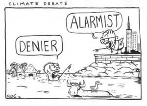 Pia Hellertz mitt i debatten om klimatet