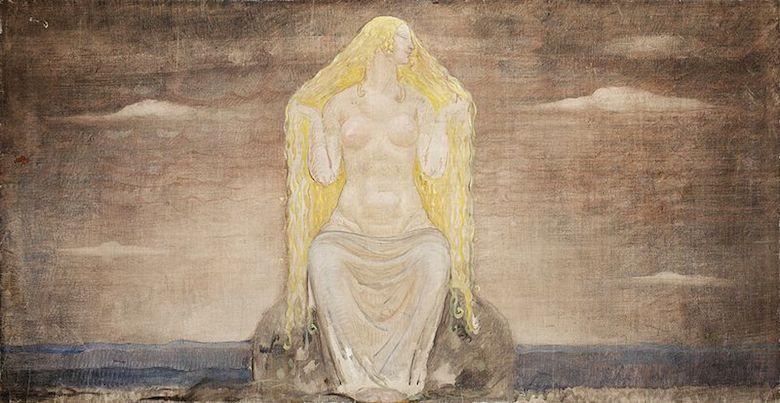 Freja - Muralmålning av John Bauer