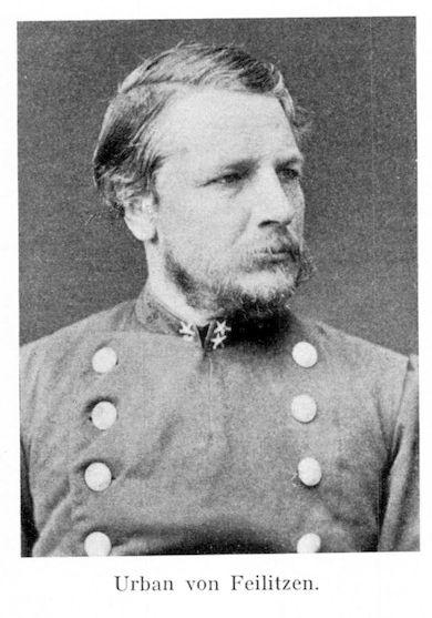 Urban von Feilitzen född den 23 maj 1834 i Östergötland, - död 14 september 1913