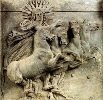 Helios, 500 f. Kr. Athenas tempel