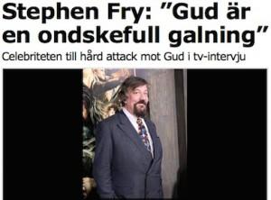 Stephen Fry fick hjärnsmälta om Gud