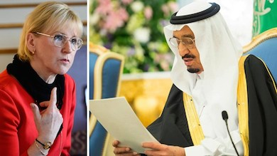 Collage Margot Wallström saudi prins