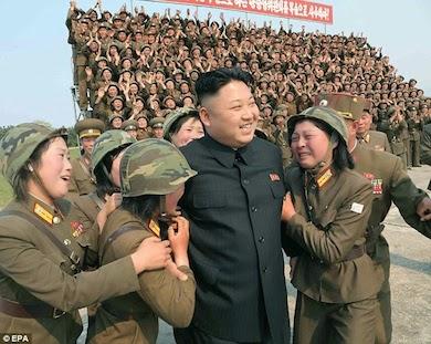 """Kim jong-un Nordkoreas """"älskade"""" och """"populära"""" diktator"""