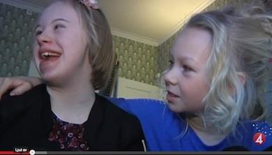 Nathea ville hylla systern med Down syndrom - kampanjen nu fått enorm spridning - Nyhetsmorgon (TV4)