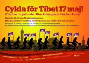 Cykla för Tibet 17 Maj