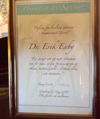 Erik Enby Diplom HK