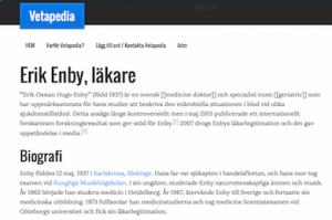 Erik Enby trollades bort på Wikipedia