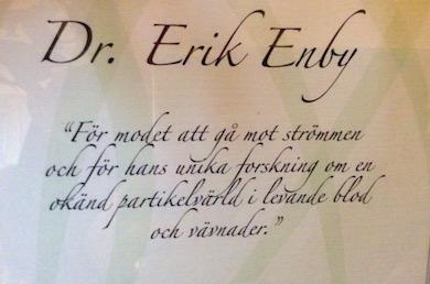 Erik Enby diplom motivering HK