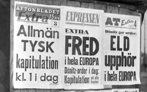 Andra världskrigets slut 1945 har olika datum 8 Maj är ett