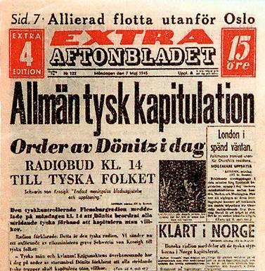 Aftonbladet 7 maj 1945
