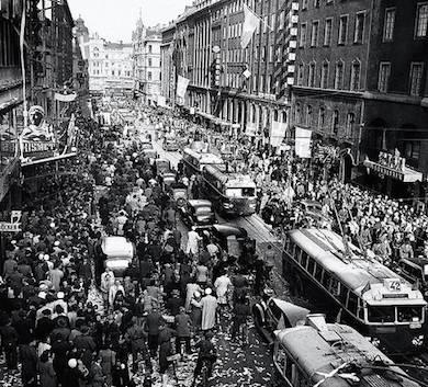 Kungsgatan 7 maj 1945