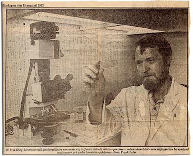 Läkare Erik Enby Foto: Frank Palm i GP 1983-08-15