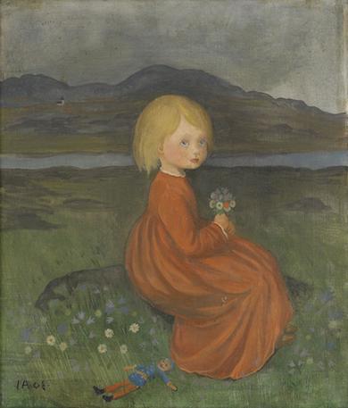 Lillan på ängen, målad av Ivar Arosenius
