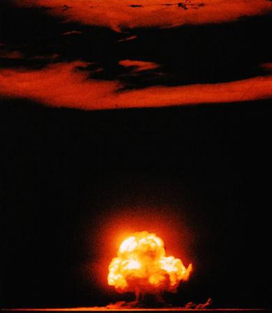Världens första atombombstest skedde i New Mexico, USA 16 juli 1945 Foto: Jack W. Aeby