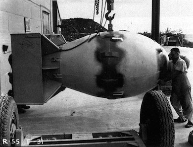 Atombomben Fatman fälldes över Nagasaki den 9 augusti 1945