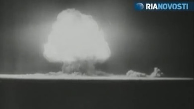 Aug 29, 1949: Soviet Union's first nuclear bomb test - RIA Novosti 100829 (Youtube)