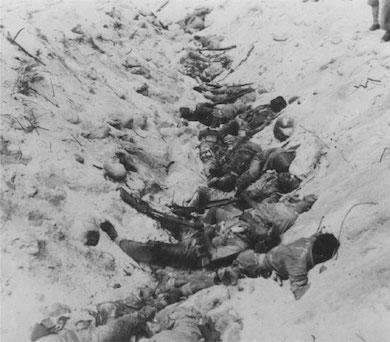Japanska soldater som begått harakiri.