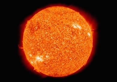 Vår sol alstrar energi genom nukleär fusion av väte till helium Foto: NASA/wikipedia