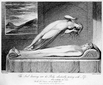 Schiavonetti: Soul leaving body, 1808.