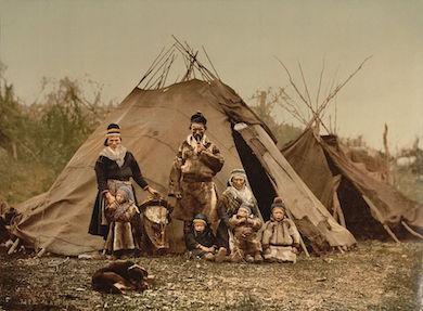 Samefamilj i Norge kring 1900 (Wikimedia commons)