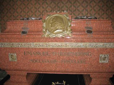 Swedenborgs krypta och sarkofag i Uppsala domkyrka (Fred J. wikimedia commons)
