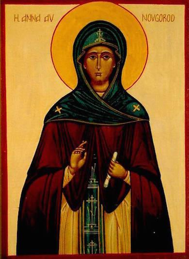 Den heliga Anna av Novgorod
