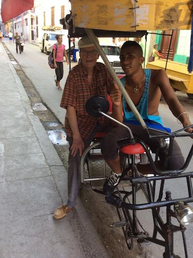 JJ´s första cykeltaxitur i Havanna 29.12.15