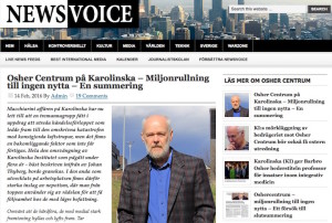 Karolinska Institutet-Forskningsfusk och donationsbedrägeri