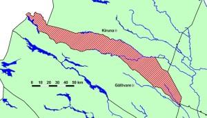 Girjas samebys byområde i Gällivare kommun, Norrbottens län (Skogfrun-Wikicommons)
