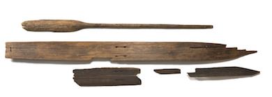 Kalvträskskidorna 5 200 år gamla. Foto: Petter Engman. Västerbottens museum