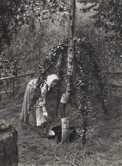 Trefaldighetskälla i Söderbärke, fotograferad trefaldighetsafton 13 juni 1908 av A. Hultgren. Nord. Museet.