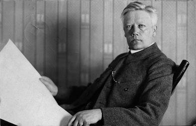 Herman Lundborg professor och chef för Statens institut för rasbiologi 1921–35 i Uppsala. (Public Domain)