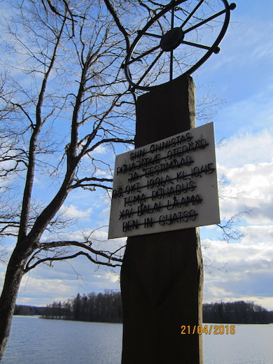 Dalai Lama monument i Estland Foto: Kersti Wistrand